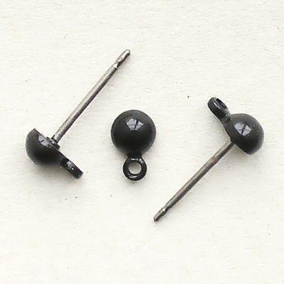 komponenty náušnice pecky černé