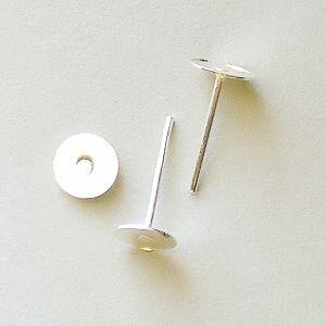 komponenty náušnice puzety postříbřené