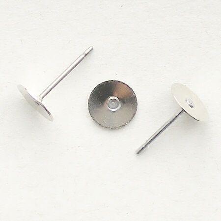 komponenty náušnice puzety platina