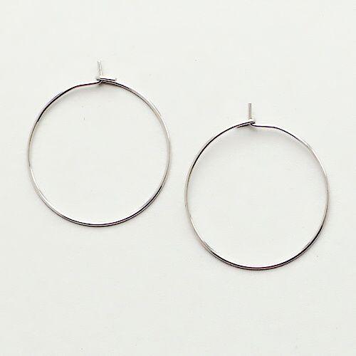 ocelové náušnice kruhy