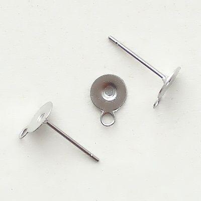 ocelové komponenty náušnice puzety