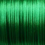 zelená šňůrka satén 0,5 m