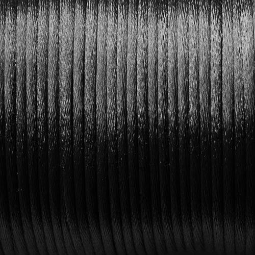 saténová šňůrka černá 1 mm