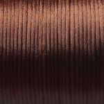 hnědé šňůrky satén 0,5 m