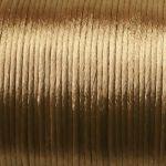 hnědé šňůrky saténové 0,5 m