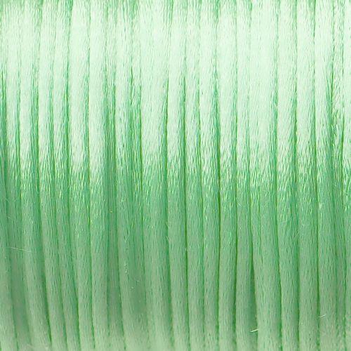 saténová šňůrka zelená světle
