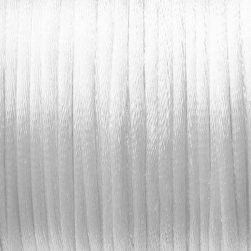 bílá saténová šňůrka