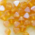 mačkané skleněné korálky 6 mm matné