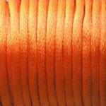 šňůrky saténové oranžové 0,5 m