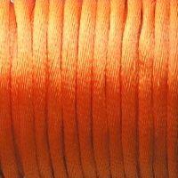 oranžová šňůrka na krk satén