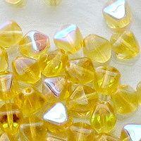 skleněné korálky 6 mm žluté AB