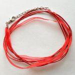 náhrdelník bavlna s šifonem