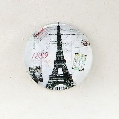 skleněný kabošon Francie