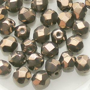 korálky ohňovky s pokovem bronz
