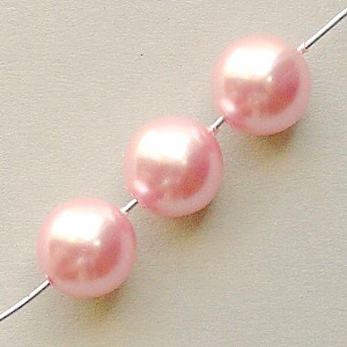 korálky voskové perle růžové