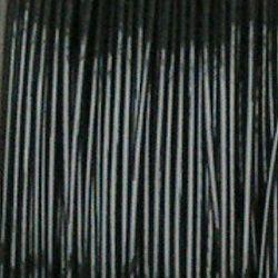 bižuterní černé ocelové lanko