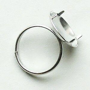komponent prstýnek postříbřený