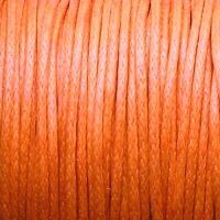 oranžová voskovaná šňůrka na krk