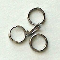 dvojitý kroužek gun metal
