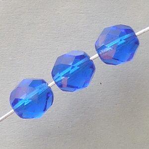 korálky ohňovky modré