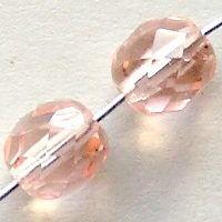 ohňovky růžové skleněné korálky