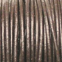 kožený kulatý řemínek hnědý