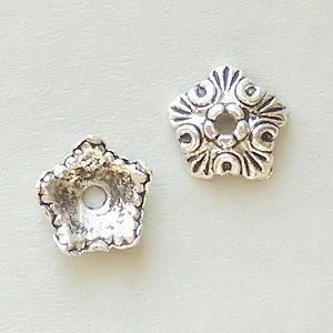 ozdobné kaplíky na korálky