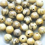 jaspis obrázkový korálky kuličky