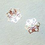 postříbřené kaplíky 6 mm