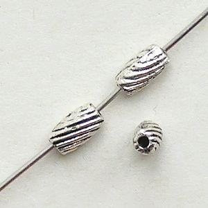 korálky válečky starostříbrné kovové