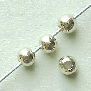 kovové korálky kuličky stříbro