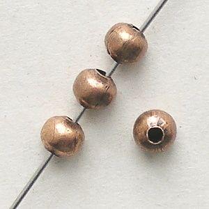 kovové korálky kuličky staroměď