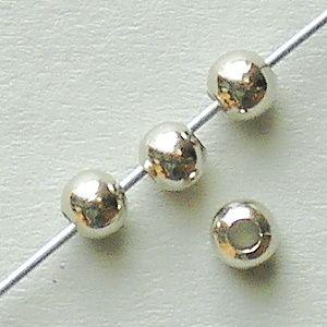 kovové korálky kuličky platina