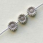 korálky kytičky 5 mm starostříbro
