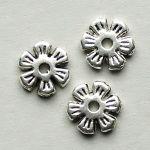 korálky kytičky 8 mm starostříbro