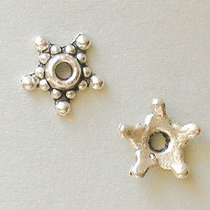 starostříbrné kaplíky na korálky