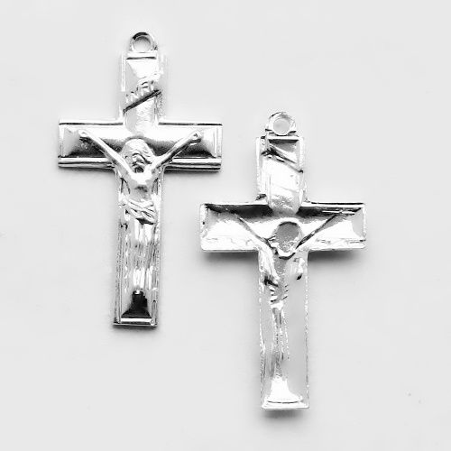 postříbřený větší křížek