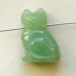 přívěsek jadeit kočka