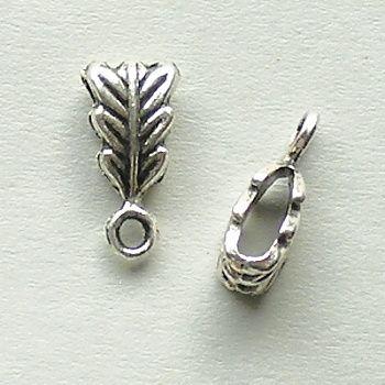 korálky s očkem starostříbrný list