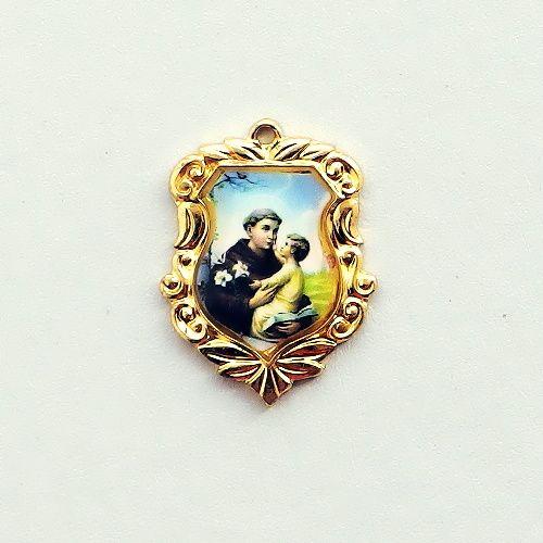 pozlacený medailonek sv. Antonín