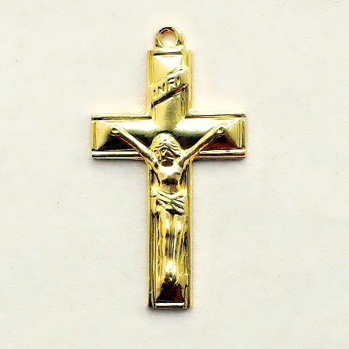 pozlacený díl na růženec křížek
