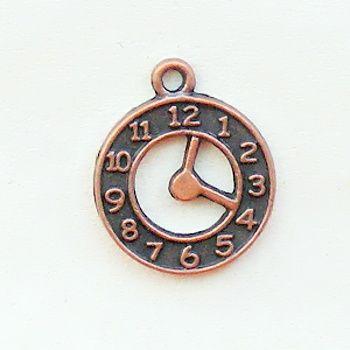 staroměděný přívěsek hodiny