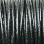 kůže kulaté černé řemínky 20 cm