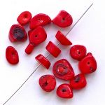 červený korál 17 mm