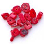 červený korál na výrobu šperků
