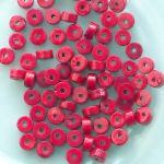 červený mramor korálek