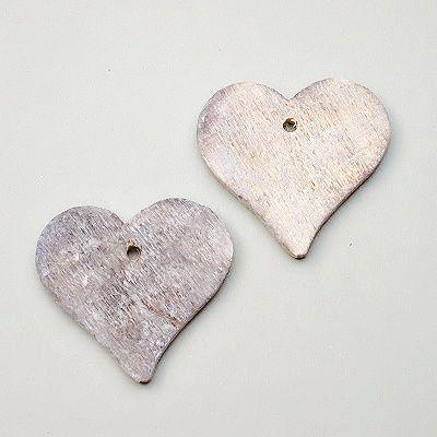 decoupage materiál srdce z překližky