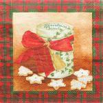 decoupage ubrousek vánoční cukroví