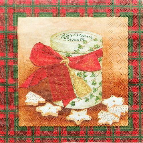 ubrousek na decoupage Vánoce