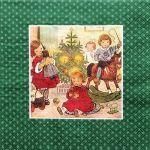 decoupage ubrousek vánoční